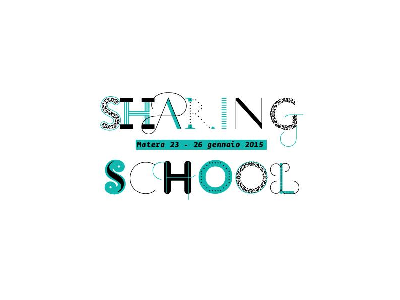 """22 Gennaio. Presentiamo a Roma la """"Sharing School"""". E poi tutti a Matera!"""