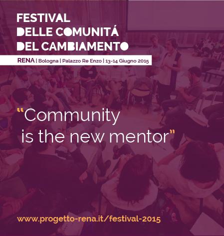 Una nuova sfida al #RENAfestival:  le accelerazioni di comunità (Libera, nuovi ibridi, sharing economy)