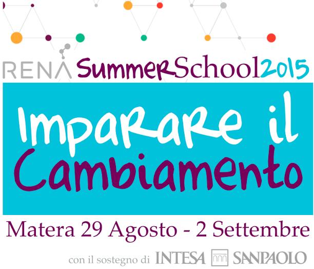 Ultimi giorni per iscriversi alla Summer School RENA. (Matera, 29 agosto – 2 settembre)